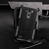 LG G3 Case, Cocomii Robot Armor NEW [Heavy Duty] Premium Belt Clip Holster Kickstand Shockproof Hard Bumper Shell [Military Defender] Full Body Dual Layer Rugged Cover (Gray)
