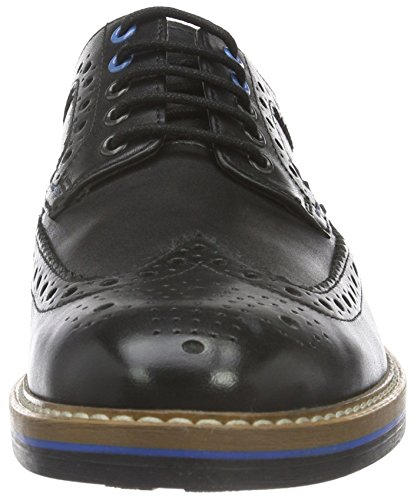 Clarks Oxford Leather Uomo Basse Pitney Nero Black Scarpe Limit Stringate C4xqBrCw