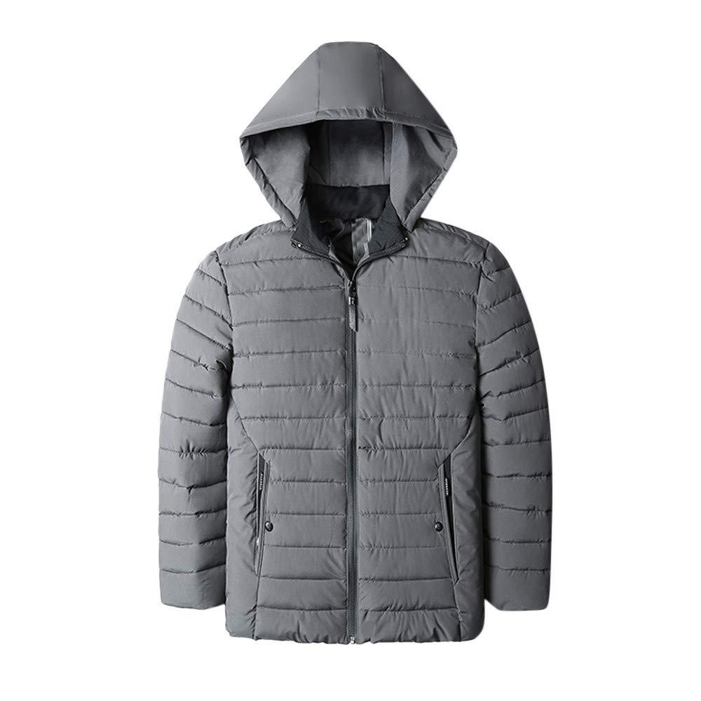 Pandaie-Mens Product Wool Pea Coat Men Slim.Fashion Mens Autumn Winter Warm Casual Pocket Zipper Hoodie Thermal Top Coat