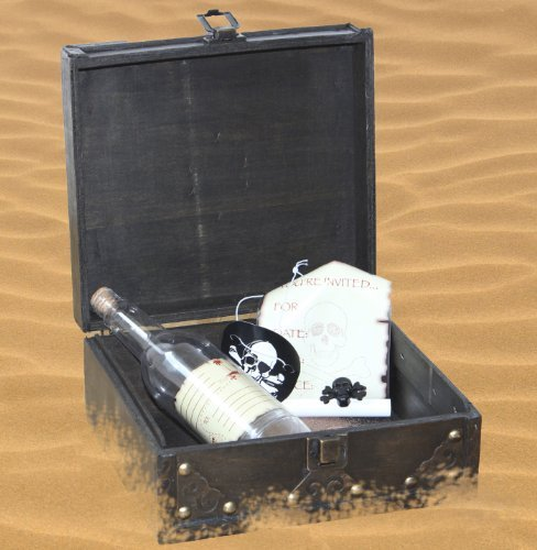 Treasure Chest Costume Ideas (Pirate Party Invitation Message in a Bottle with Pirate Treasure Chest)