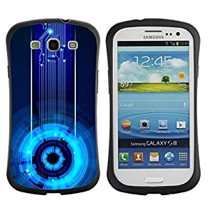 LASTONE PHONE CASE / Suave Silicona Caso Carcasa de Caucho Funda para Samsung Galaxy S3 I9300 / Space Station Cyber Tech Electronic Blue