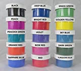 150g of ThermoChromic Temperature Activated Pigment that changes at 88⁰F (31 ⁰C) - Great for making color-changing slime, Paint, Nail Polish, Fabric Art and More (15 X 10g = 150g, MIXED COLORS)