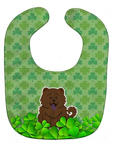 (Caroline's Treasures BB6282BIB Shamrocks Baby Bib, Green Chow Chow Chocolate, Large)