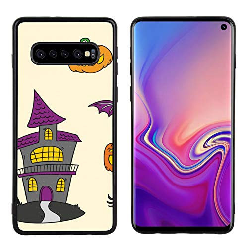 ZSTVIVA Phone Cover Compatible with Samsung Galaxy S10 Side Black Soft Halloween Rip Candy Anti-Scratch Drop Protective Shell Case