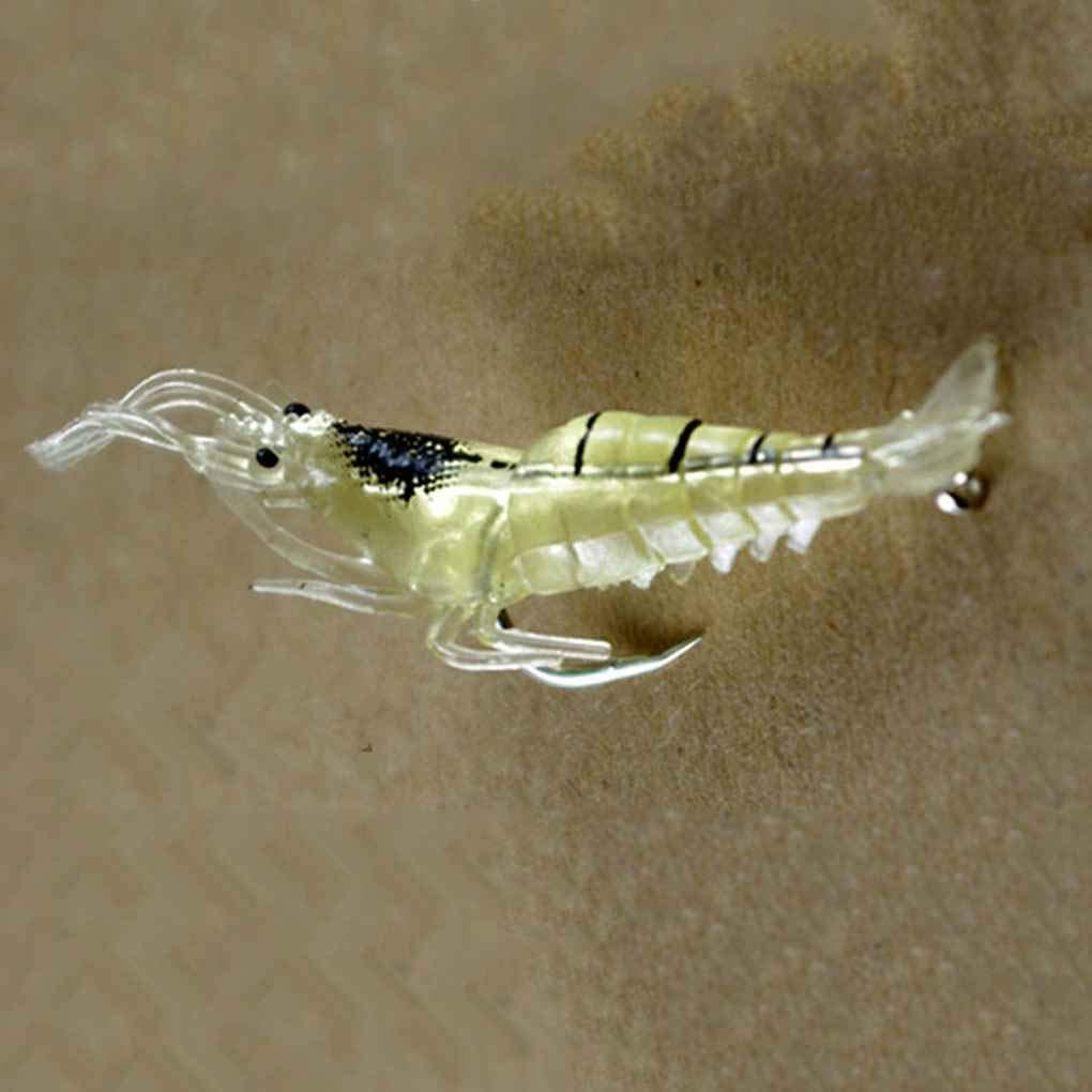 Sunlera 5 x Mucho camar/ón de simulaci/ón//Soft se/ñuelo de la Pesca de la gamba Artificial cebos de Pesca con los Ganchos