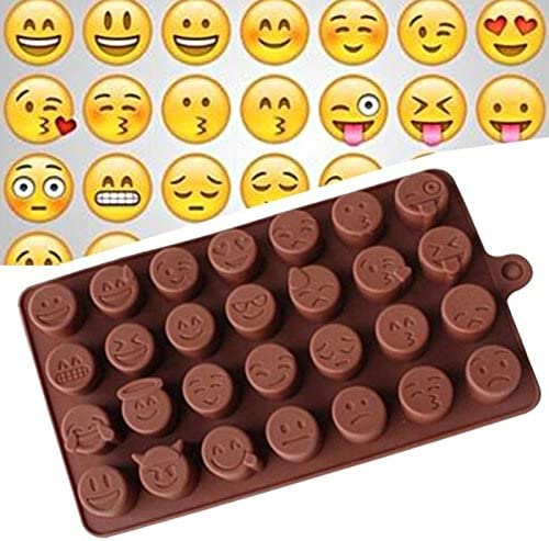 kebyy Fashion Cake Baking Mold Silicone Emoji Funny Face DIY Chocolate Sugar Candy Fondant Soap Jelly Mould Kitchen Tools