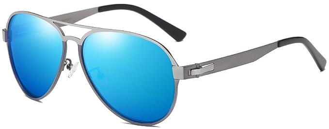 DUCO Premium de tamaño flexible Aviator Style gafas de sol polarizadas 100% protección UV 3028