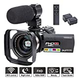 Camcorder Video Camera YEEHAO WiFi HD 1080P 24MP 16X Powerful Digital Zoom Camera