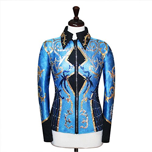 Western Pleasure Show Shirts - Medium Rodeo Western Horse Riding Show Jacket Horsemanship Pleasure Rail Outfit [31]