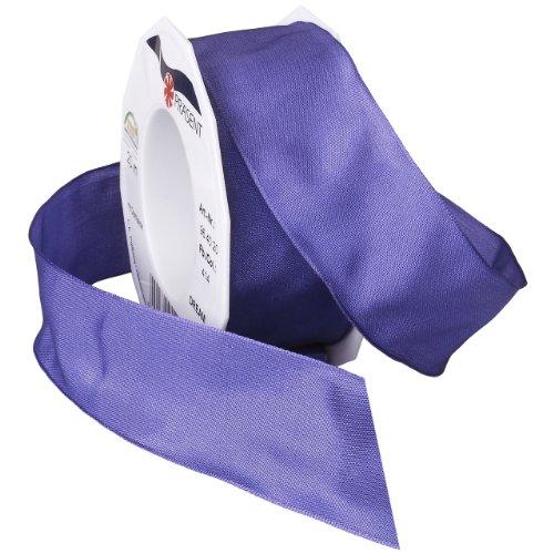 Morex Ribbon Dream Wired Taffeta Ribbon Spool, 1-1/2-Inch by 22-Yard, Blue Iris