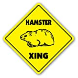 HAMSTER CROSSING Sign new caution xing cage gift
