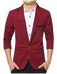 JiaYou Men Boy Slim Fit One Button Casual Outwear Blazer Jacket Coat