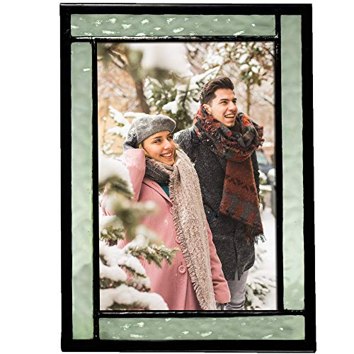 J Devlin Colored Easel Back Series - Stained Glass 4x6 Picture Frame Displays Horizontally or Vertically (Green)