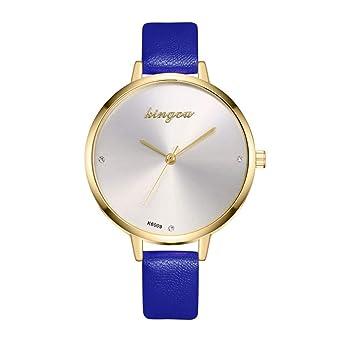 Relojes Pulsera Mujer, Cuero Artificial Acero Inoxidable ...
