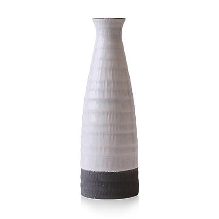 Hannahs Cottage White Vase Ceramic Small Flower Vase Modern Table