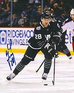 Marek (New Jersey Devils) Zidlicky Autographed Photo - YORK ISLANDERS 8X10 w COA B - Autographed NHL Photos