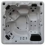 Canadian Spa Company Toronto 44-Jet 6 Person Hot Tub with LED Lighting and Pop-up Speakers