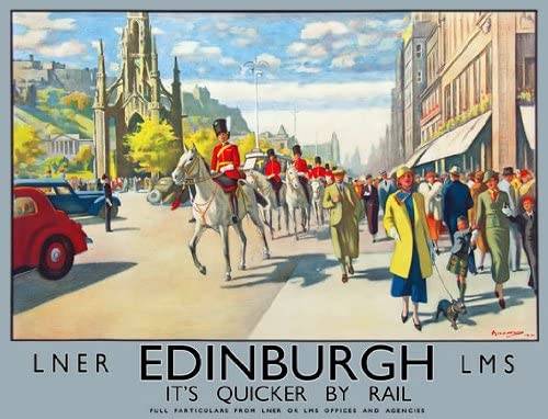 Vintage British Rail Holyrood House Edinburgh Railway Poster A3//A4 Print