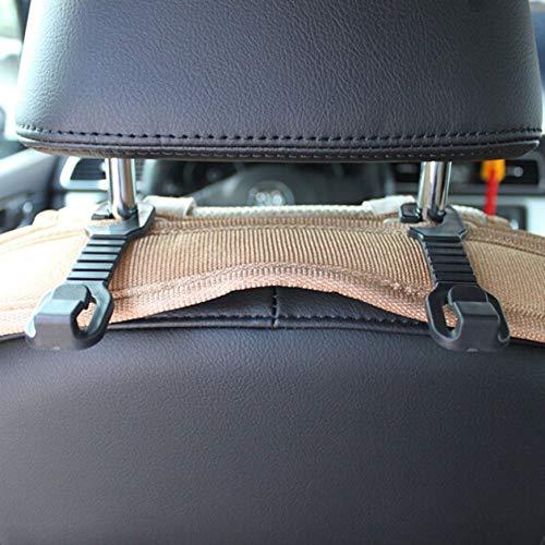 Pudincoco Universal Headrest Mount Car Seat Back Hanging Hook Fastener & Clip Seat Hanger Purse Bag Organizer Holder Hook Vehicle Hook(Black)