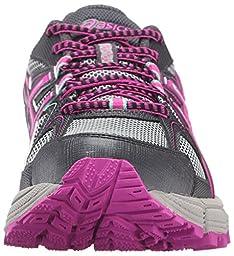 ASICS Women\'s Gel-Kahana 8 Trail Runner, Dark Steel/Pink Glow/Mint, 8.5 M US