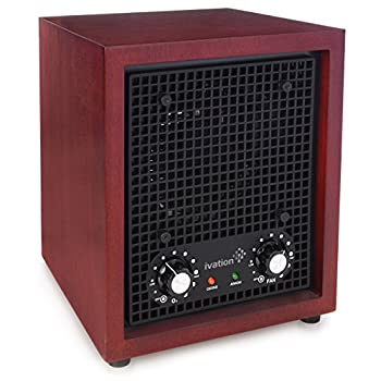 Image of Home and Kitchen Ivation Ozone Generator Air Purifier, Ionizer & Deodorizer -Purifies Up to 3,500 Sq/Ft -Great for Dust, Pollen, Pets, Smoke & More Cherry