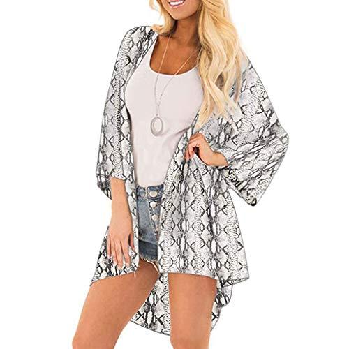 Euone Women Tops Clearance Sales, Women Serpentine Cover Casual Blouse Tops Kimono Bikini Cardigan Capes ()