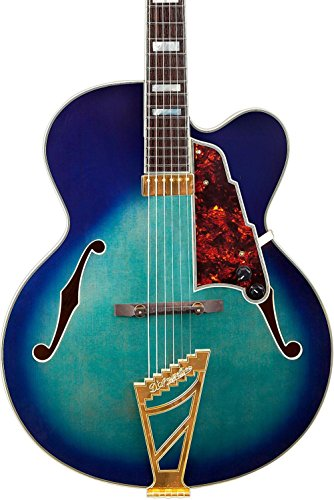 Exl Series (D'Angelico Excel Series EXL-1 Hollowbody Electric Guitar with Stairstep Tailpiece Blue Burst)