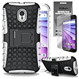 Motorola Moto G 2015 [Also Known as Moto G 3rd Generation 2015] Grenade Combat Case by ElBolt ¨ - White with Free HD Screen Protector