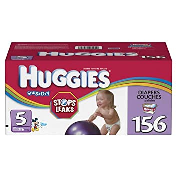 Amazon.com: Huggies Snug & Dry Diapers, Size 5, 156-Count: Health ...