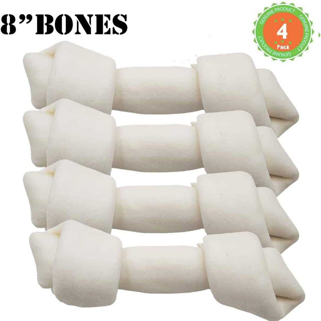 MON2SUN Dog Rawhide Bones 8 Inch Dog Rawhide Treats Chews for Large Dogs