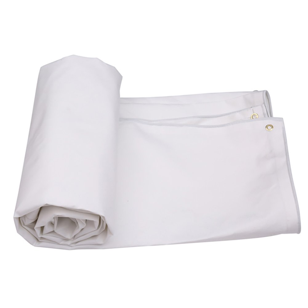 GUOWEI-pengbu ターポリン キャンバス シェード 日焼け止め 防水 耐摩耗性 老化防止 ポリエステル糸 屋外 (色 : 白, サイズ さいず : 2.9x1.9m) B07FZ75724 2.9x1.9m|白 白 2.9x1.9m
