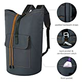 ZERO JET LAG 70 L Extra Large Laundry Bag Heavy Duty Backpack with Straps Pockets Hanging Laundry Hamper College Essentials Storage Basket Storage Bag Dorm Home(Dark Grey,XL)
