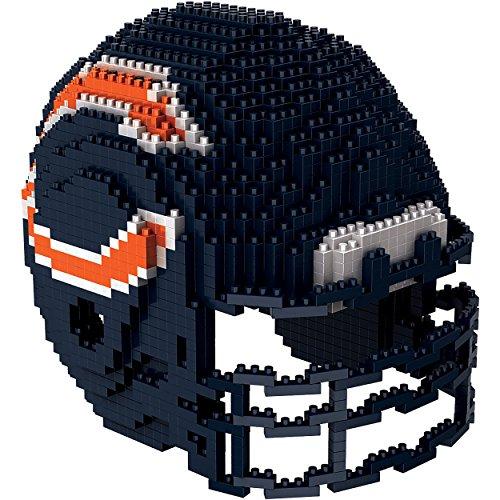 NFL Chicago Bears Mini BRXLZ Helmet Building Blocks, One Size, (Chicago Bears Mini Helmet)