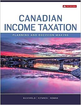 Canadian Income Taxation, 2019/2020: William Buckwold, Joan