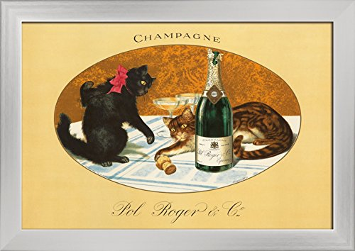 champagne-pol-roger-vintage-poster-c-1921-18x12-giclee-art-print-gallery-framed-silver-wood