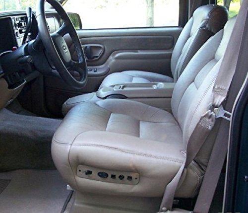 Durafit Seat Covers 1998-1999 Chevy Suburban and Tahoe Captains with Electric Seats with Heated Controls. Made in Gray Velour
