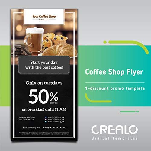 amazon flyer coffee shop 1 ディスカウントプロモテンプレート