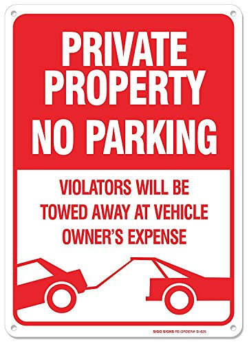 No Parking Sign Violators Aluminum