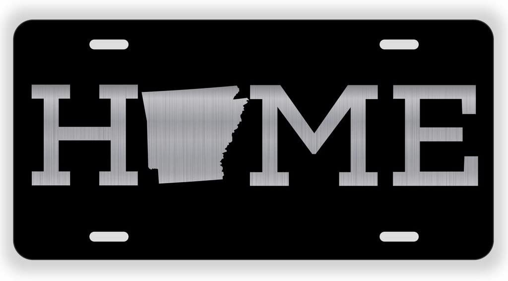 JMM Industries Home Arkansas State AR Vanity Novelty License Plate Tag Metal 6-Inches by 12-Inches Etched Aluminum UV Resistant ELP072