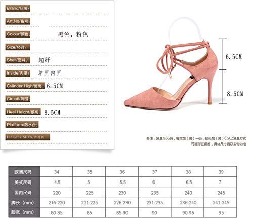KPHY They Shoes Pointed Heel Spring 9Cm Beige And Lace Tie Sexy Summer Characterized Are By Shoes Thin Suede High In rwIRxgqBr