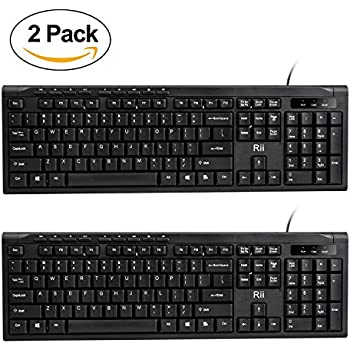 amazonbasics wired keyboard 10 pack computers accessories. Black Bedroom Furniture Sets. Home Design Ideas
