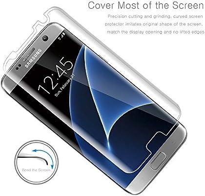 Leathlux [2-Unidades] Protector de Pantalla para Samsung Galaxy S7 Edge, [2-Pack] Anti-Golpes Cristal Vidrio Templado Premium Anti-Huella 3D Touch para Galaxy S7 Edge [Dureza de Grado 9H]: Amazon.es: Electrónica