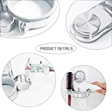 Hair Dryer Holder Ultra-adhering Suction Cup Organizer Wall Mounted Hair Blow Dryer Holder Stand with Cable Collection for Bathroom Bedroom - Easy Installation - No Need For drilling