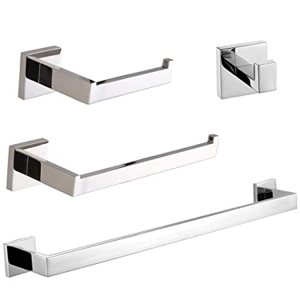 Image Unavailable. Image not available for. Color  VELIMAX Premium  Stainless Steel 4-Piece Bathroom Hardware Set ... ad587f2d3