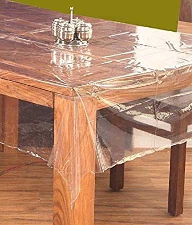 buy pindia 8 seater 60 x 108 inch plain transparent waterproof table