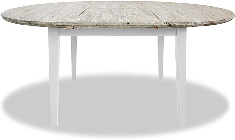 Florence Grande Table Ronde Ovale Table De Cuisine Extensible Au