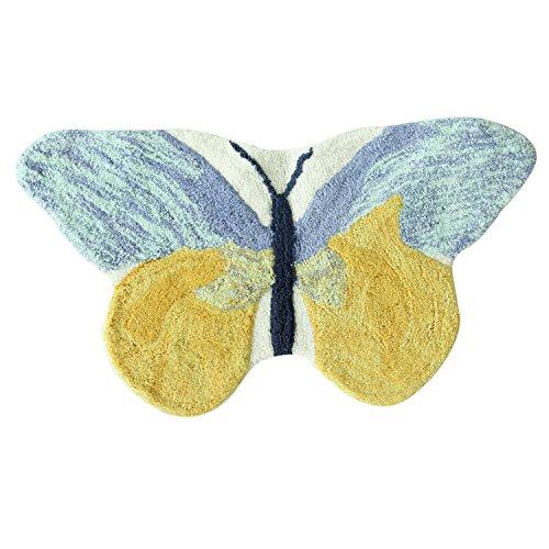 Bacova Guild 11603 Bath Rug, - Shaped Rug Butterfly