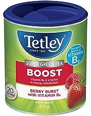 Tetley Super Green Tea Boost: Berry Burst with Vitamin B6 - 20 Count