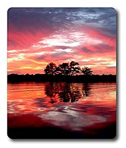 gel mouse pad wrist rest Red Lake PC Custom Mouse Pads / Mouse Mats Case Cover