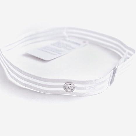 Amazon.com: Lululemon White Mesh Stripe Athletic Yoga ...